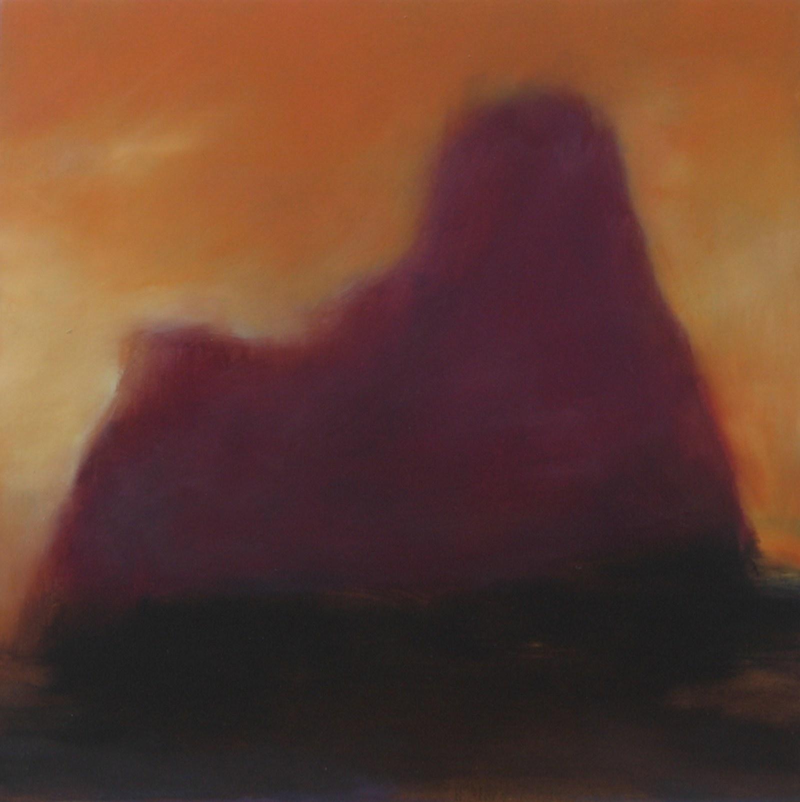 Purppura, öljy levylle, 50 x 50cm, 2007