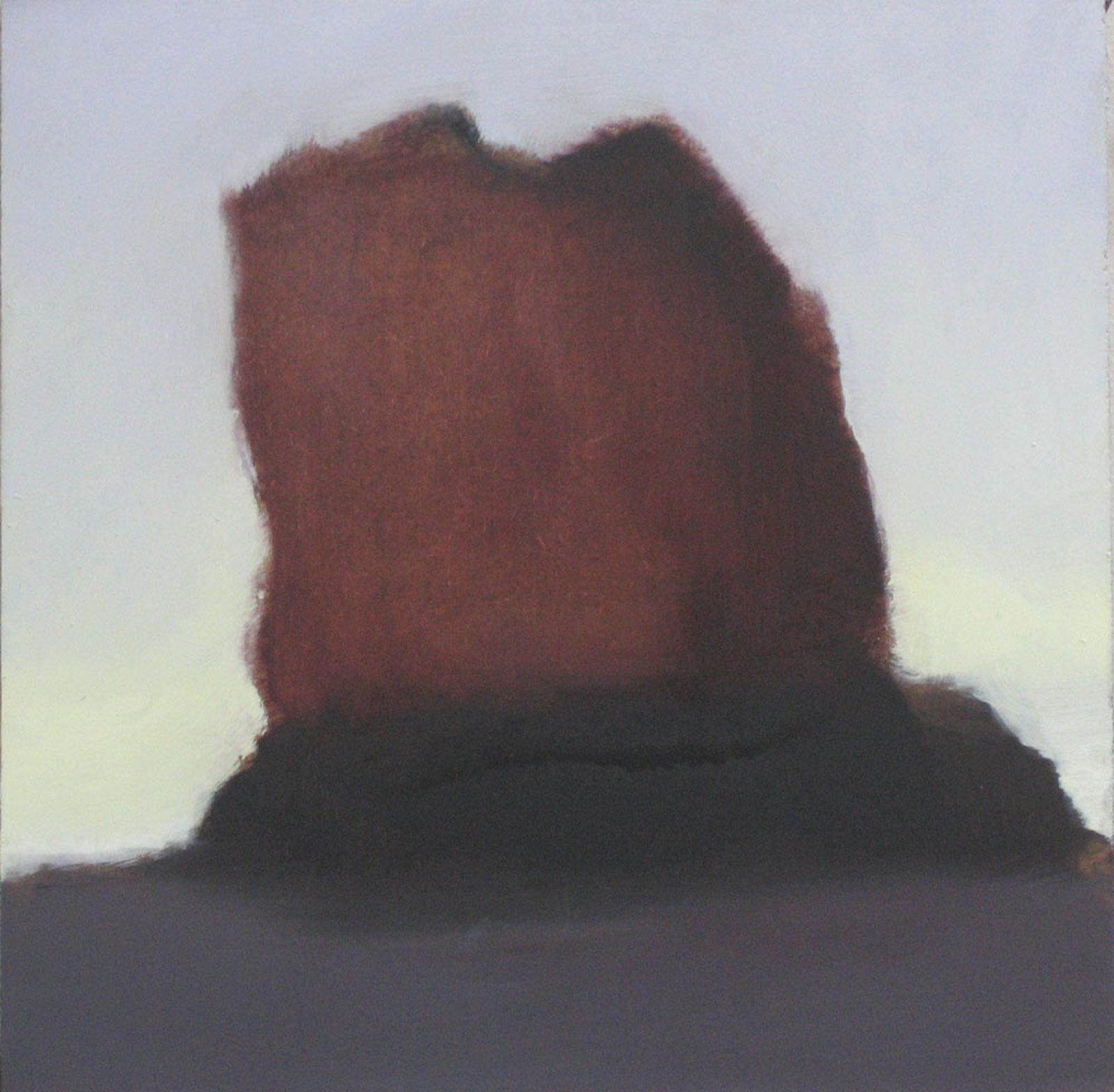 Pysähdys 1, öljy levylle, 25 x 25cm, 2006